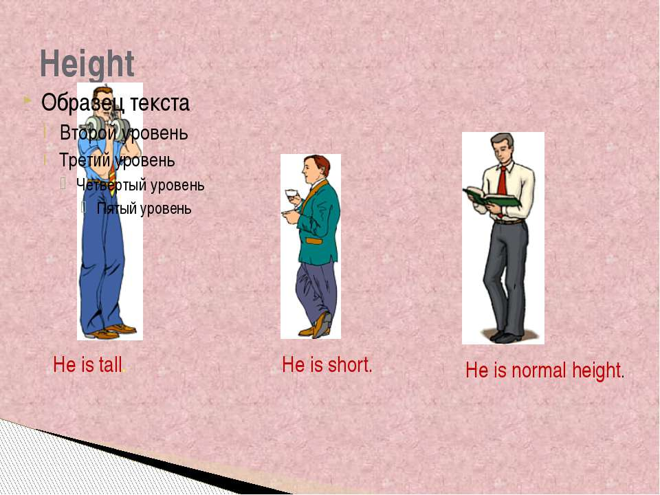 Height He is tall. He is short. He is normal height. Height - Is this man tal...