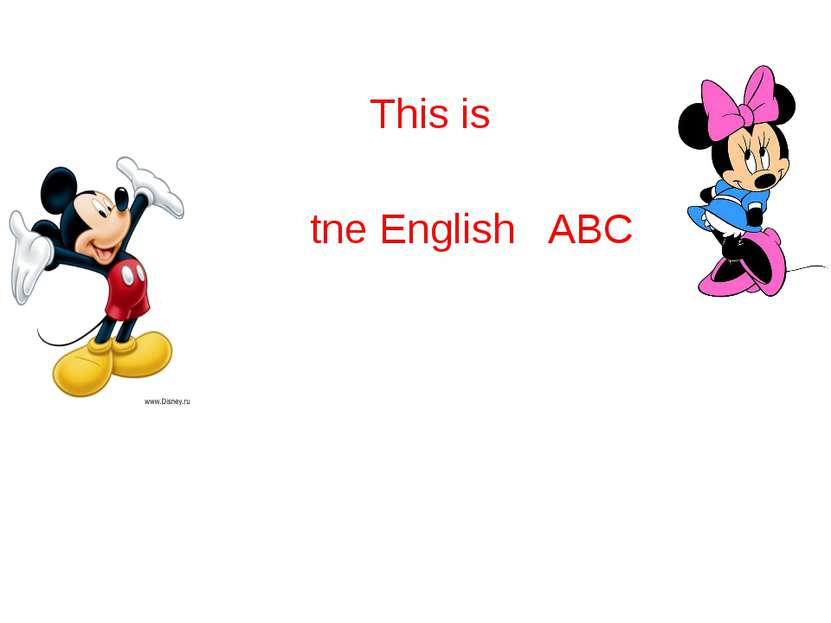 This is tne English ABC