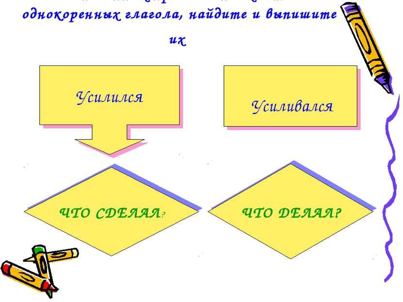 В выписанных предложениях есть два однокоренных глагола, найдите и выпишите и...