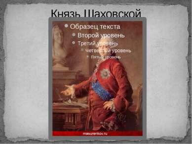 Князь Шаховской
