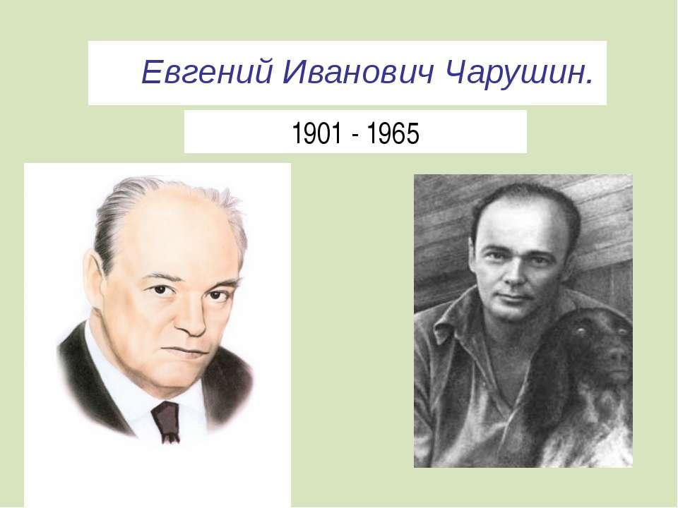 Евгений Иванович Чарушин. 1901 - 1965