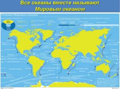 Все океаны вместе называют Мировым океаном
