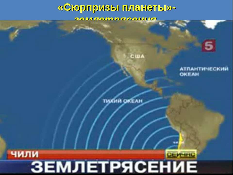 «Сюрпризы планеты»- землетрясения.