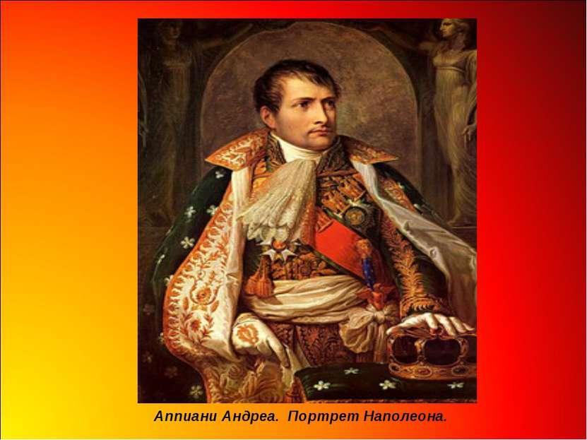 Аппиани Андреа. Портрет Наполеона.