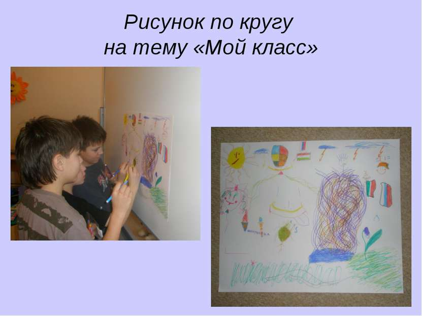 Рисунок по кругу на тему «Мой класс»