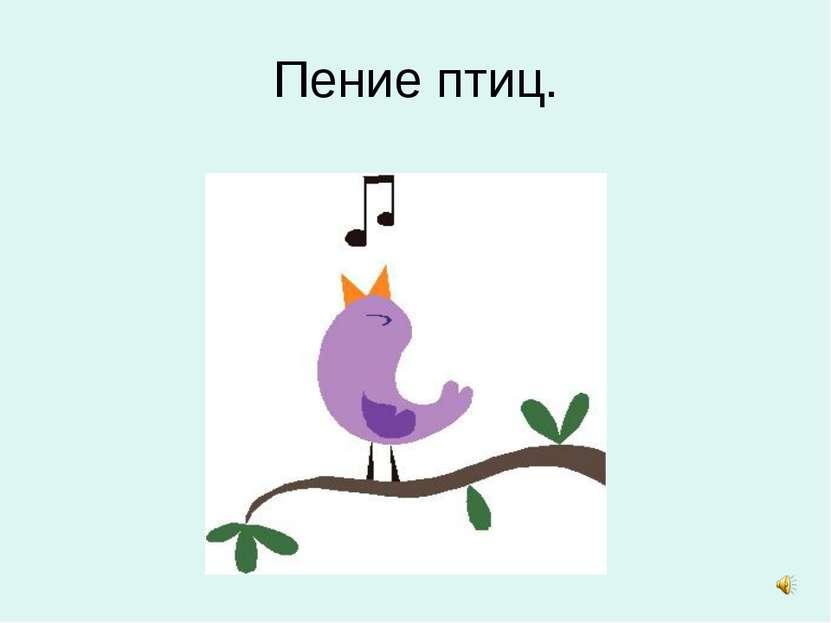 Пение птиц.