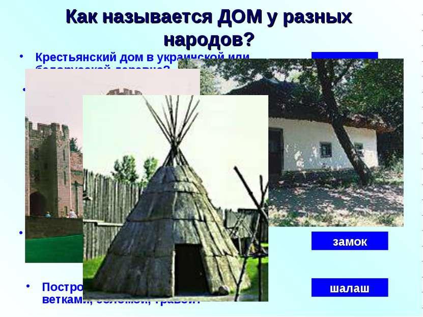 Крестьянский дом в украинской или белорусской деревне? Как называется ДОМ у р...