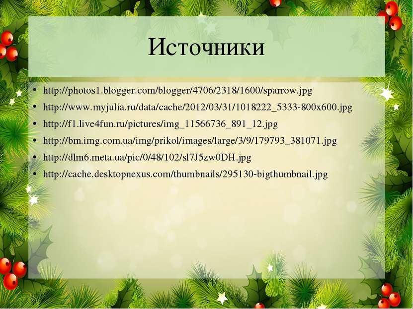 Источники http://photos1.blogger.com/blogger/4706/2318/1600/sparrow.jpg http:...