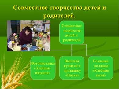 Совместное творчество детей и родителей.