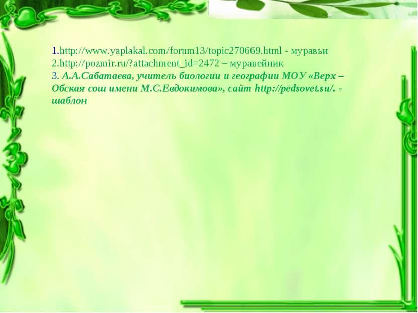 1.http://www.yaplakal.com/forum13/topic270669.html - муравьи 2.http://pozmir....
