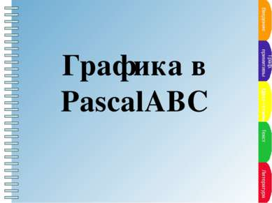 Введение Граф. примитивы Цвет--стиль Текст Литература Графика в PascalABC Пун...