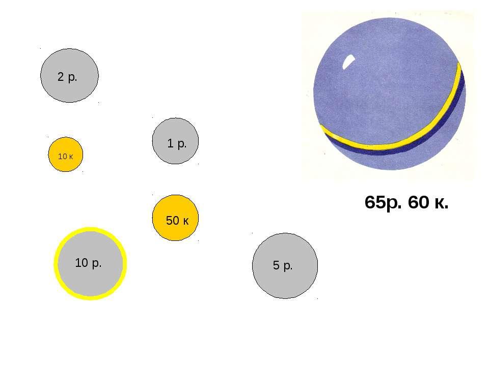 65р. 60 к. 2 р. 10 р. 5 р. 1 р. 50 к 10 к