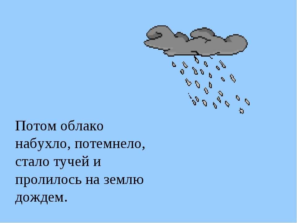 Потом облако набухло, потемнело, стало тучей и пролилось на землю дождем.