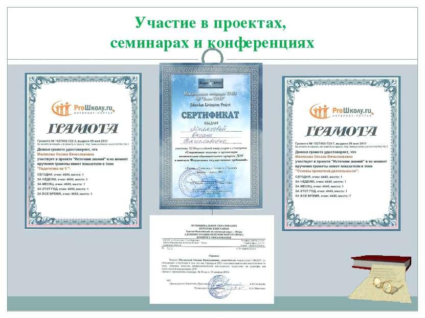 Участие в проектах, семинарах и конференциях
