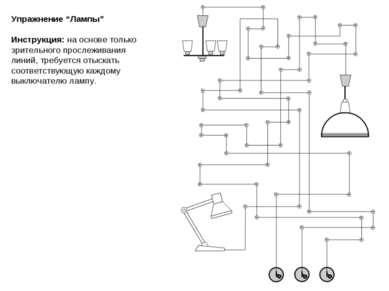 """Упражнение """"Лампы"""" Инструкция: на основе только зрительного прослеживания лин..."""