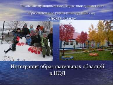 Ваховское муниципальное бюджетное дошкольное образовательное учреждение детск...