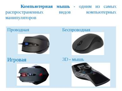 Манипуляторы — это специальные устройства, которые используются для удобного ...