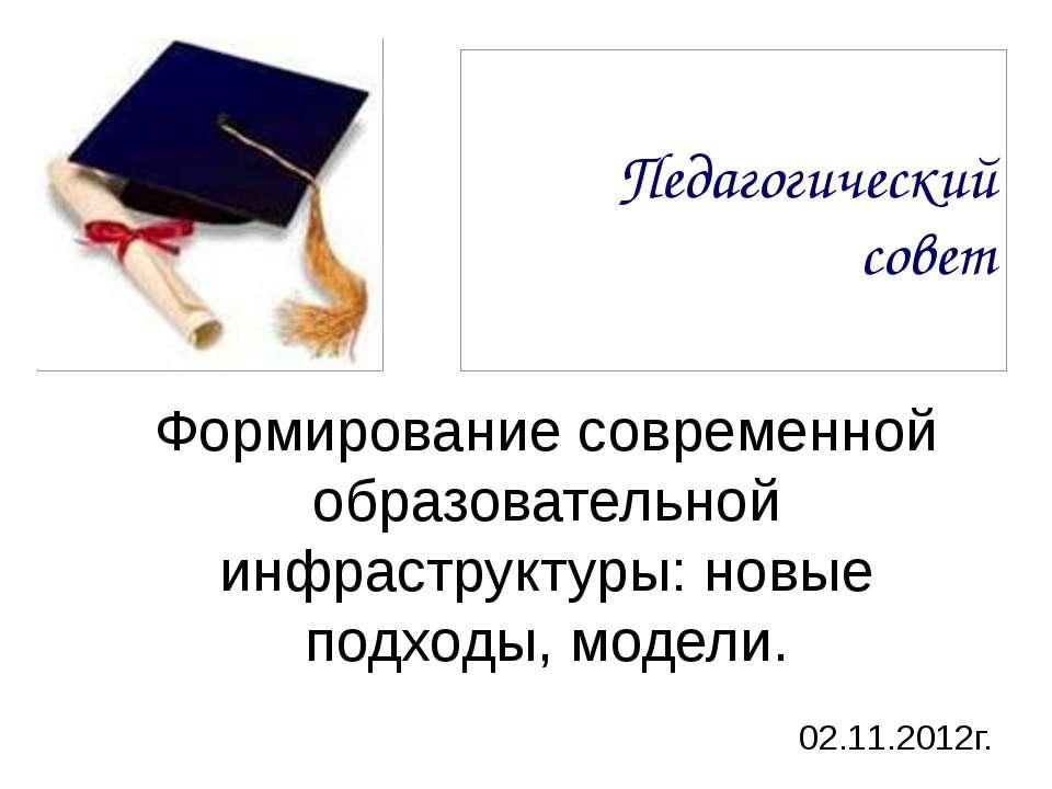 Педагогический совет Формирование современной образовательной инфраструктуры:...