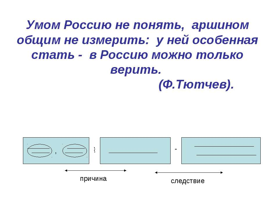 Умом Россию не понять, аршином общим не измерить: у ней особенная стать - в Р...