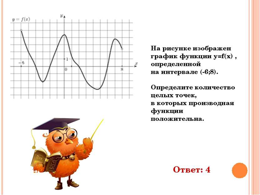 На рисунке изображен график функции y=f(x) , определенной на интервале (-6;8)...