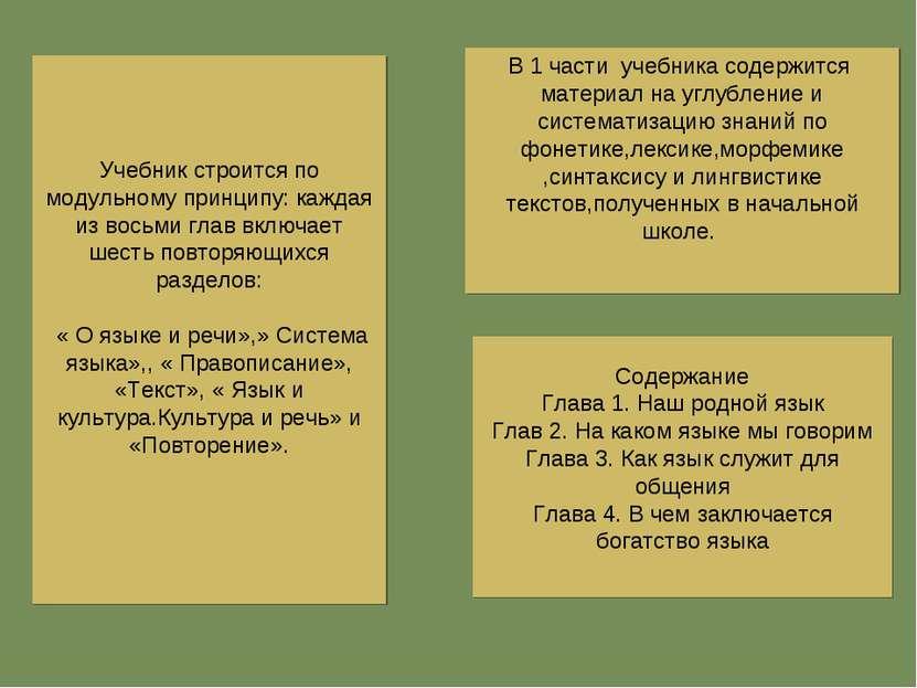 Содержание Глава 1. Наш родной язык Глав 2. На каком языке мы говорим Глава 3...