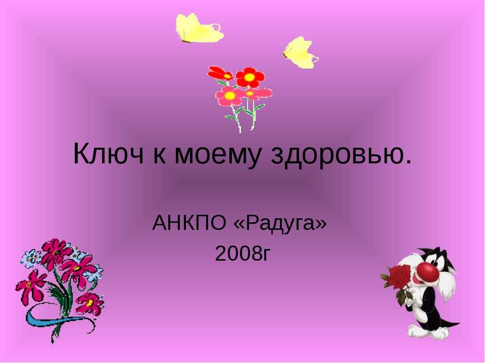 Ключ к моему здоровью. АНКПО «Радуга» 2008г