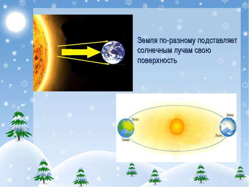 Земля по-разному подставляет солнечным лучам свою поверхность