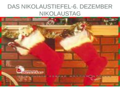DAS NIKOLAUSTIEFEL-6. DEZEMBER NIKOLAUSTAG