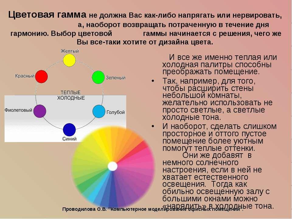 Цветовая гамма не должна Вас как-либо напрягать или нервировать, а, наоборот ...