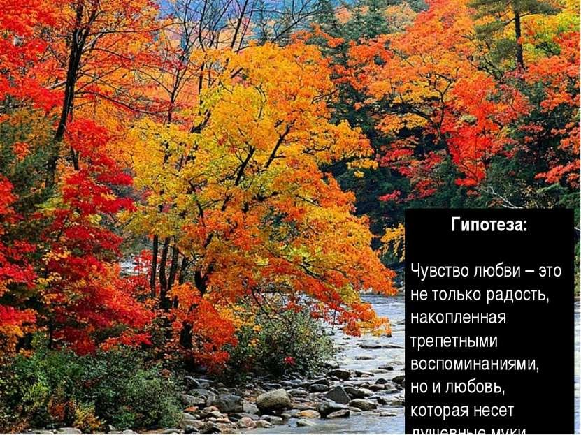 Гипотеза: Чувство любви – это не только радость, накопленная трепетными воспо...
