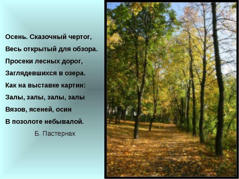 Осень. Сказочный чертог, Весь открытый для обзора. Просеки лесных дорог, Загл...