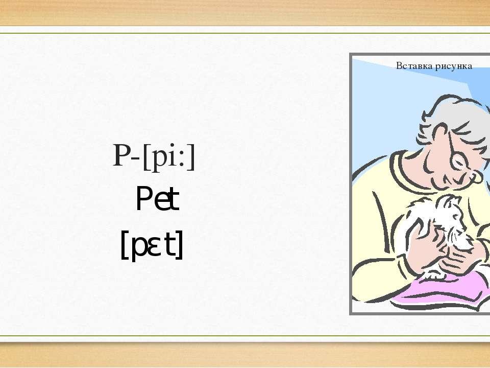 P-[pi:] Pet [pɛt]