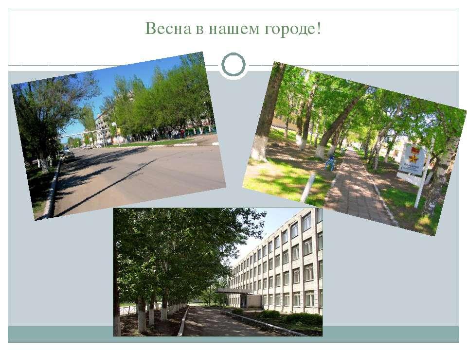 Весна в нашем городе!
