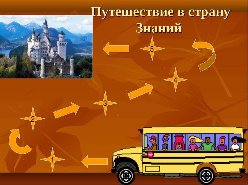 Путешествие в страну Знаний 1 2 3 4 5