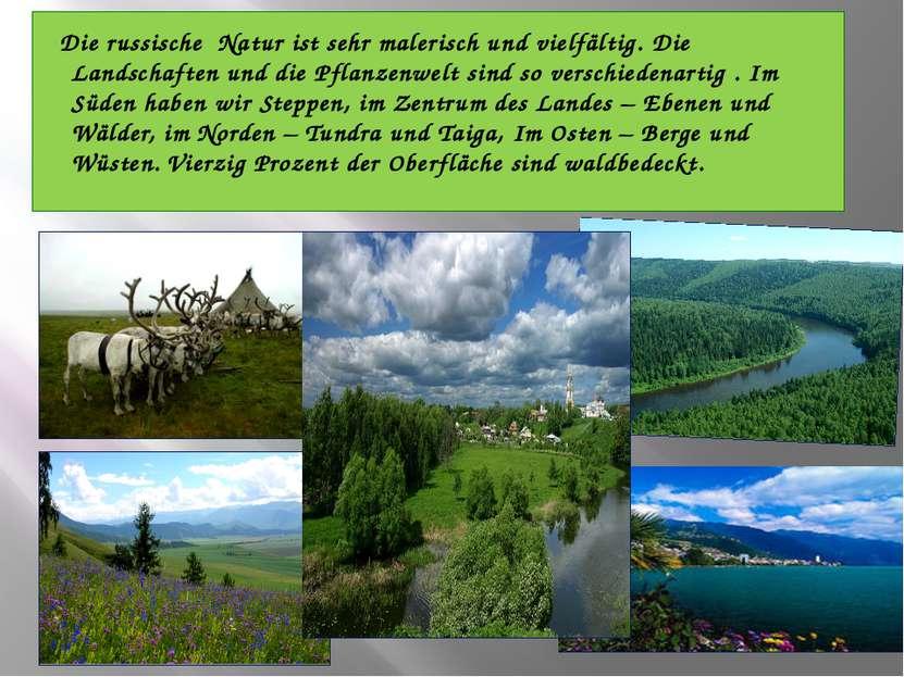 Die russische Natur ist sehr malerisch und vielfältig. Die Landschaften und d...