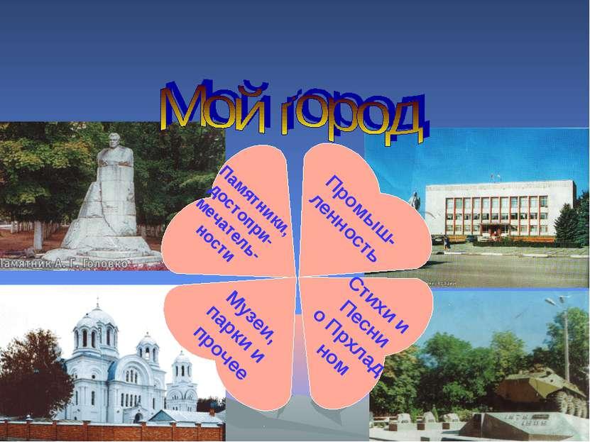 Памятники, достопри- мечатель- ности Музеи, парки и прочее Стихи и Песни о Пр...