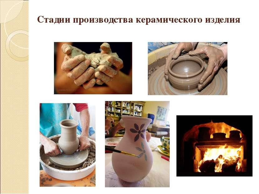 Стадии производства керамического изделия