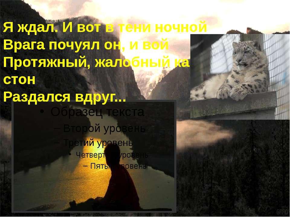 Я ждал. И вот в тени ночной Врага почуял он, и вой Протяжный, жалобный как ст...