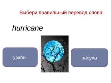 hurricane ураган засуха Выбери правильный перевод слова: