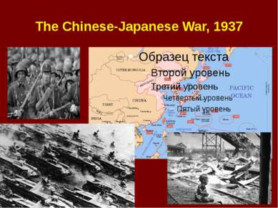 The Chinese-Japanese War, 1937