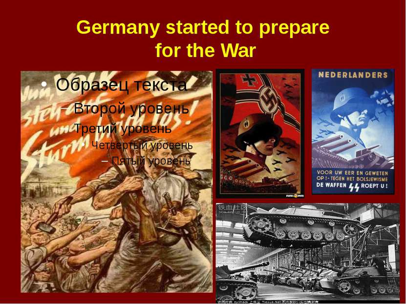 Germany started to prepare for the War
