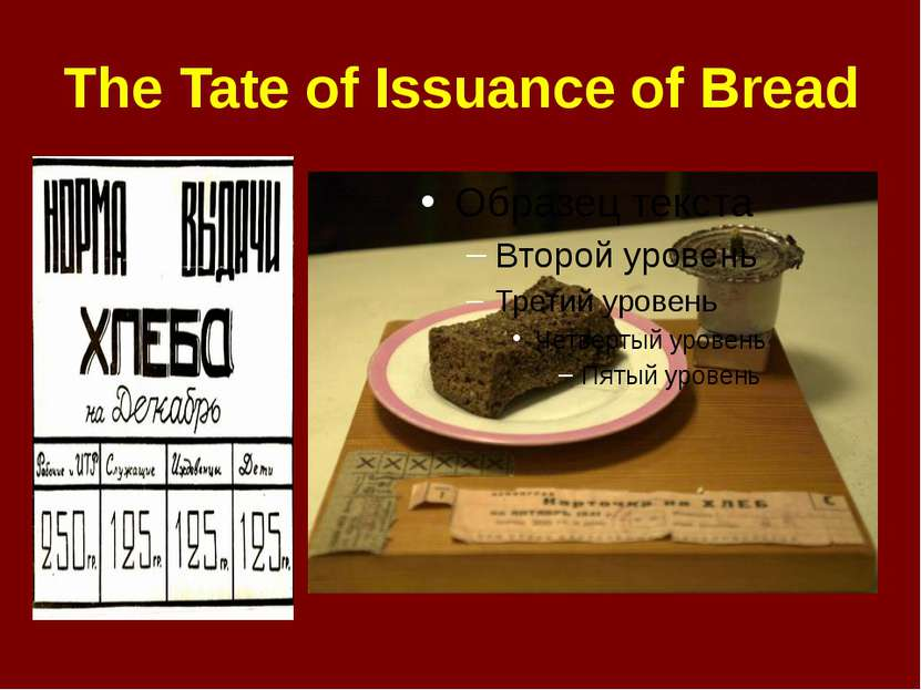 The Tate of Issuance of Bread