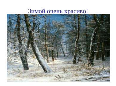 Зимой очень красиво!