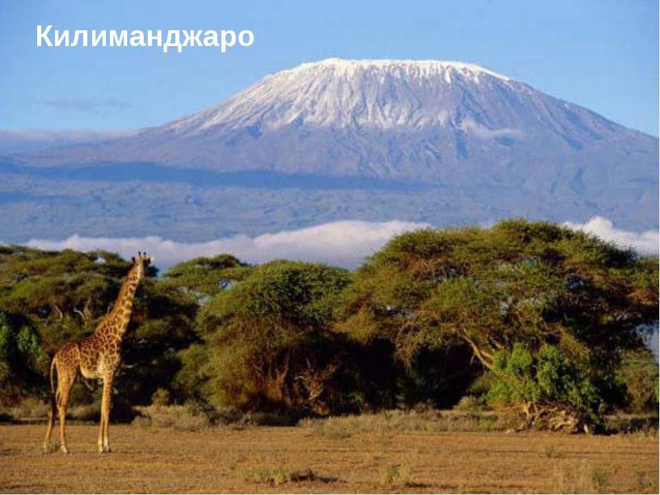 Ключевская Сопка Кракатау Фудзияма Эльбрус Килиманджаро