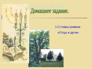 1-3 главы романа «Отцы и дети»