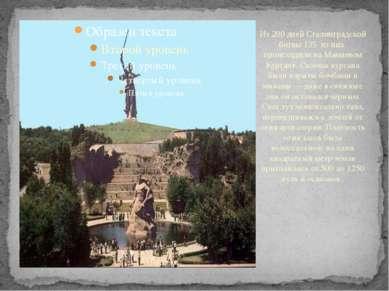 Из 200 дней Сталинградской битвы 135 из них происходили на Мамаевом Кургане. ...