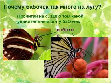 Почему бабочек так много на лугу? Прочитай на с. 118 о том какой удивительный...