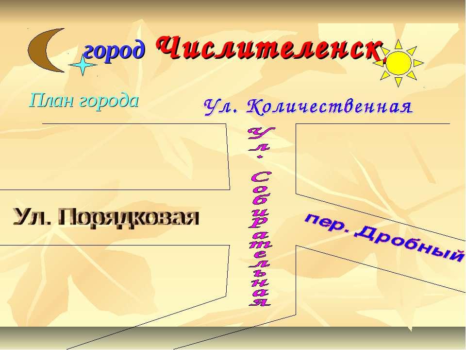 город Числителенск План города