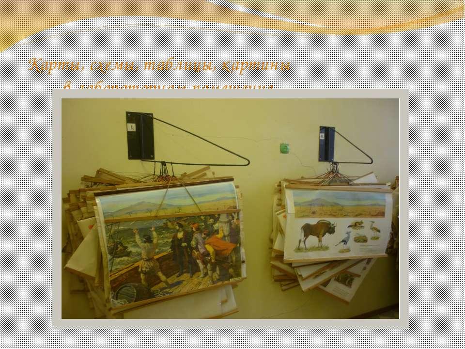 Карты, схемы, таблицы, картины в лабораторном помещение