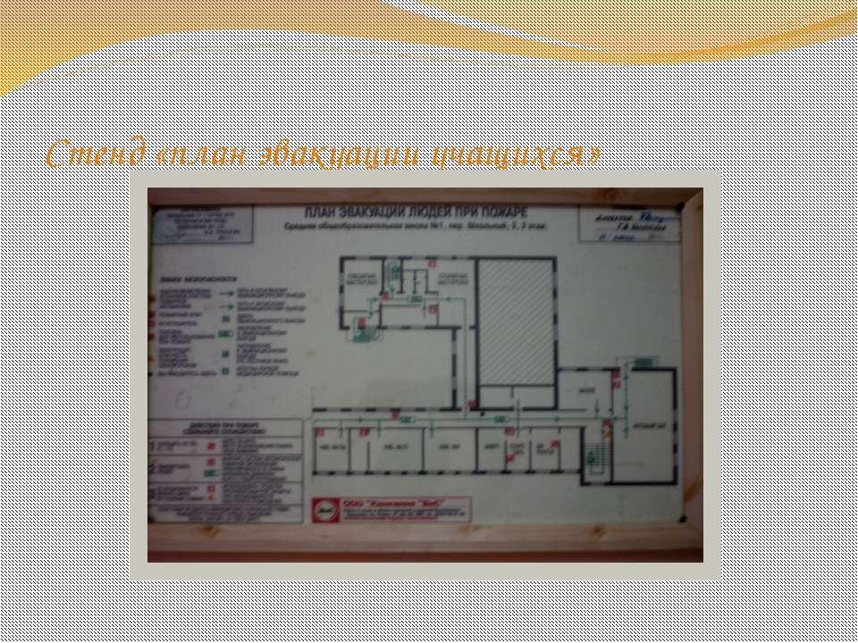 Стенд «план эвакуации учащихся»